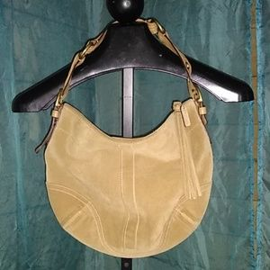 Coach large hobo suede Leather